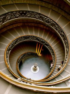 Spiral staircase in the Vatican Museum. (By victoria0805, via Flickr.)