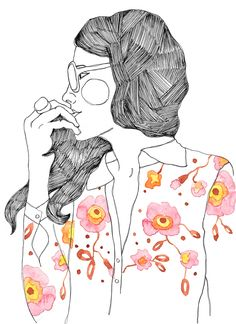 Fashion Illustration by Dani Moura for La Estampa's collection