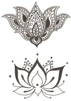 lotus bohemian tattoo design