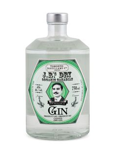 """J.R.'s Dry Organic Canadian Gin. 45 % ABV. Classic. Crafted by distiller Jesse """"J.R."""" Razaqpur, this juniper-forward spirit features exclusively Ontario grown juniperus communis berries, allowing the unique local terroir to shine through. The bold up front flavour of Ontario grown juniper fades to a savoury middle featuring notes of licorice, anise seed, coriander, and ginger, complimented by the dryness of angelica root."""
