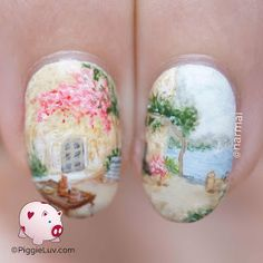 The birds are chirping, the air smells like spring but it's still SO COLD!!! Makes me long for hot summer evenings when I can still feel the heat of the sun lingering on the bricks of my house. This nail art design takes me back to that <3