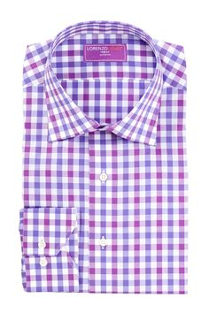 Lorenzo Uomo Two-Tone Gingham Dress Shirt by Lorenzo Uomo on @nordstrom_rack
