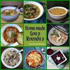 homemade soup roundup - www.chewsandbrews.ca