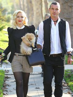 TWO CUTE    In addition to sons Zuma and Kingston, Gwen Stefani and Gavin Rossdale brought a furry friend along to Thanksgiving dinner Thursday at the No Doubt frontwoman's parents' home. The Pomeranian pup joined the family earlier this fall.