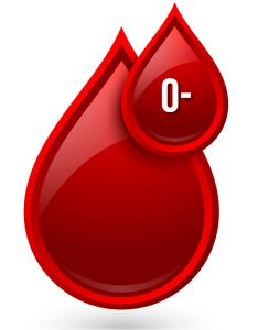 O Neg blood drop