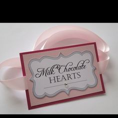 Love these candy buffet tags