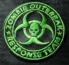 Zombie Outbreak Response Team Patch Green Black by pixiefashions, $10.00