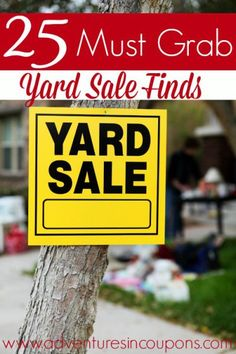 Hitting the yard sales soon? Make sure you keep an eye out for these items! These 25 items are almost always worth picking up at yard sales! Make Money Money Making Ideas