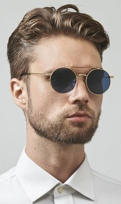 56fa3f958d Ash  Mens Stainless Steel  Round  Sunglasses designed by FREYRS Eyewear in  Chicago.