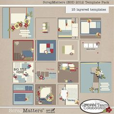 *** Updated image *** Get this template pack free when you like the ScrapMatters Facebook page. (Visit the iNSD Facebook Hop link on FB to get a coupon code for this, then purchase it in the shop.) (AVAILABLE until 5/10/12.)