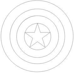 capitão américa desenho colorir escudo - Pesquisa Google