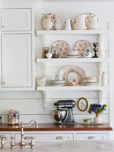 Give your kitchen an open look by removing cabinets and replacing them with open shelves. These tips explain how to tackle this DIY job.