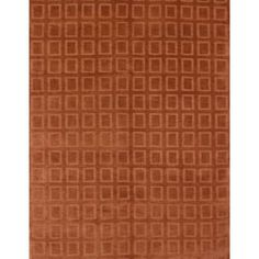 This is the rug in our living room! @Overstock - High-quality construction highlights this area rug, hand-knotted in India using premium New Zealand semi-worsted wool. This rug features a subtle geometric squares pattern in hues of orange and light brick red.http://www.overstock.com/Home-Garden/Hand-knotted-Orange-New-Zealand-Wool-Rug-6-x-9/5568779/product.html?CID=214117 $462.99