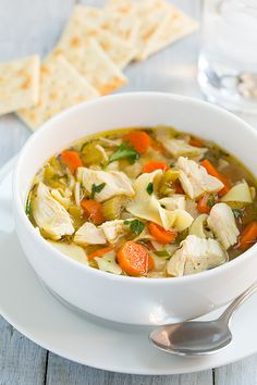 Slow Cooker Chicken Noodle Soup - Cooking Classy