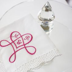 Monogram Heart Design is a beautiful gift for Valentines Day or Wedding. Choose from more than 30 thread colors.