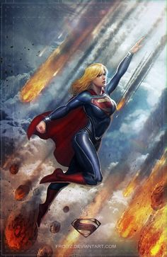Supergirl Conceptual Illustrations by Fx. Sedhayu Ardian S. Comic Book Characters, Comic Book Heroes, Comic Character, Comic Books Art, Comic Art, Heros Comics, Comics Girls, Dc Heroes, Kal El Superman