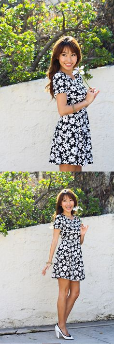 We're feelin' the flower power from #CRfashionista @Dominic Street Haruna in this CR skater dress!