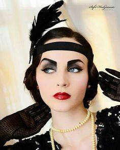 Makeup - I love 1920's makeup! I may tone it down but great idea.