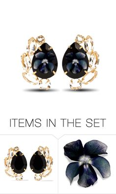 """""""Floral Earrings..."""" by marvy1 ❤ liked on Polyvore featuring art"""