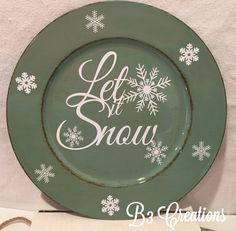Charger Plate, Christmas Plate, Decorative Plate, Housewarming Gift, Christmas Decoration, Kitchen D
