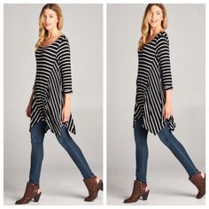 💥💥💥Striped tunic dress ONE HOUR SALE Chic stylish striped draped tunic dress PLEASE comment on the size you want and allow me to make you a personalized listing ( when your ready to purchase) BUNDLE AND SAVE 10% Dresses
