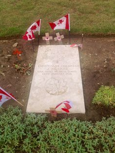 Grave of John McCrae - Medic who wrote 'In Flanders Fields'.