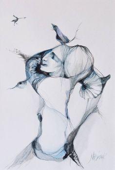 """Saatchi Art Artist Boicu Marinela; Painting, """"OBSESSIVE SYNDROME"""" #art"""