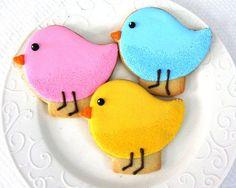 Girl Bird Birthday Party Ideas - birdie cookies