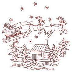 Redwork Christmas 10(Lg) machine embroidery designs