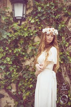"""And Something Blue"" the bridal collection by thepoppy.net Photo by Juan Diego Jiménez Photography // #bridal #wedding #bride #editorial #flowerscrown #floralcrown #flowers #crown #headpiece #romantic #boho #vintage"