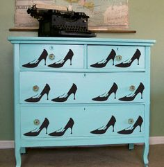 Designer Ed Roth's stencils are inspired by street art. He made over this dresser for a friend.