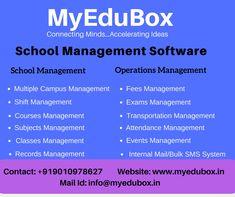Records Management, Resource Management, Class Management, Event Management, Student Information, Online Registration, All Schools, Operations Management, School Fun
