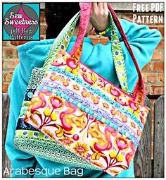 Arabesque Bag free pdf sewing pattern