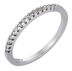 18ct White Gold Fifth Carat Diamond Eternity Ring- H. Samuel the Jeweller