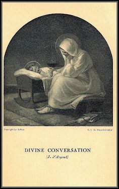 Divine Conversation- so beautiful! Look at the faces of our Lady and her Son...
