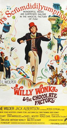 Directed by Mel Stuart.  With Gene Wilder, Jack Albertson, Peter Ostrum, Roy Kinnear. Charlie receives a golden ticket to a factory, his sweet tooth wants going into the lushing candy, it turns out there's an adventure in everything.