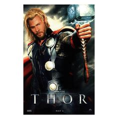 I like the typography of this poster because the kerning adds emphasis and the all caps serif typeface used is big and bold which gives it a powerful vibe like Thor