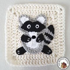 Ravelry: Crochet Raccoon Applique pattern by The Rusted Pansy