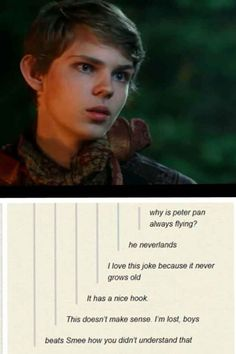 "This deadpan delivery. | 24 Jokes Only ""Once Upon A Time"" Fans Will Understand << how is this only for OUAT fans? If you've seen Peter Pan you'll understand this. If you've watched Hook you'll understand this. If you've read the book you'll understand this."