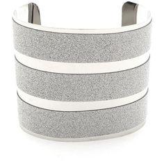Striped Glitter Cuff Bracelet | $5.8 | Trendy Cheap | Bracelets |... ($5.80) ❤ liked on Polyvore