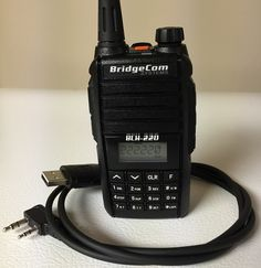 BridgeCom Systems BCH-220 Handheld Radio and Programming Cable