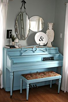 I want a piano and I want to paint it this color.  LOVE.  The end.