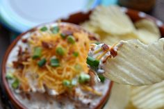 ... | Pinterest | Potato Chip Dips, Loaded Baked Potatoes and Chip Dips