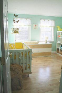 turquoise & yellow Nursery
