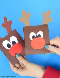 Reindeer Sticking out His Tongue Christmas Card Craft Christmas Cards Handmade Kids, Pop Up Christmas Cards, Christmas Card Crafts, Homemade Christmas Cards, Kids Christmas, Birthday Card Drawing, Reindeer Craft, Kids Cards, Crafts For Kids