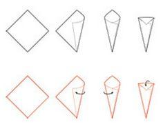 Fazendo a festa: Passo a passo: cone de papel