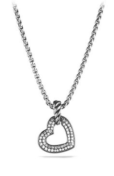 David Yurman 'Cable' Heart Pendant with Diamonds available at #Nordstrom