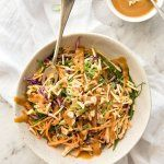 Asian cabbage/chicken salad - LOVE the peanut dressing!