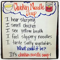 Rowdy in First Grade: Sensory Poetry Use with Chicken Soup With Rice. Kindergarten Poetry, Teaching Poetry, Teaching Writing, Writing Rubrics, Paragraph Writing, Opinion Writing, Persuasive Writing, Teaching Ideas, Writing Centers