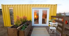 An ordinary shipping container, transformed into a beautiful liveable space by Hilari on HGTV's Design Stars All Star.